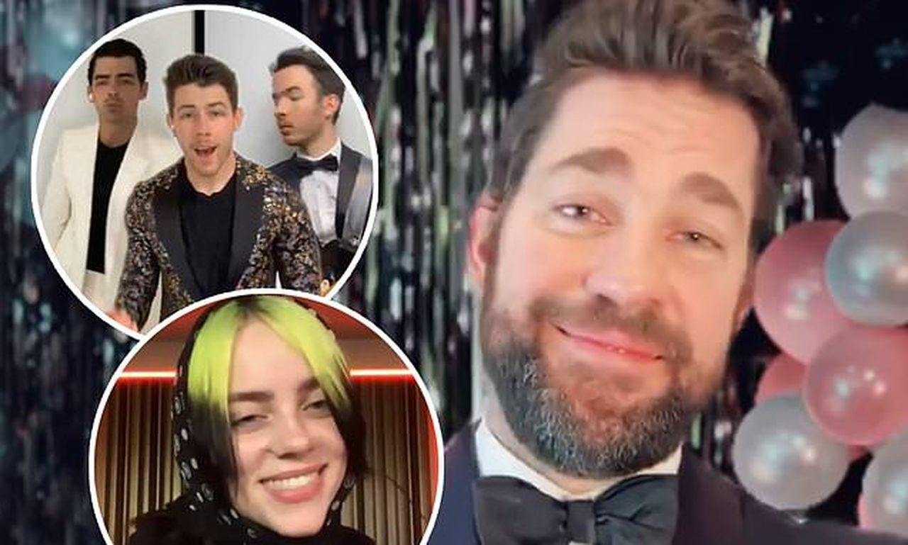 John Krasinski throws epic virtual prom with Billie Eilish and The Jonas Brothers