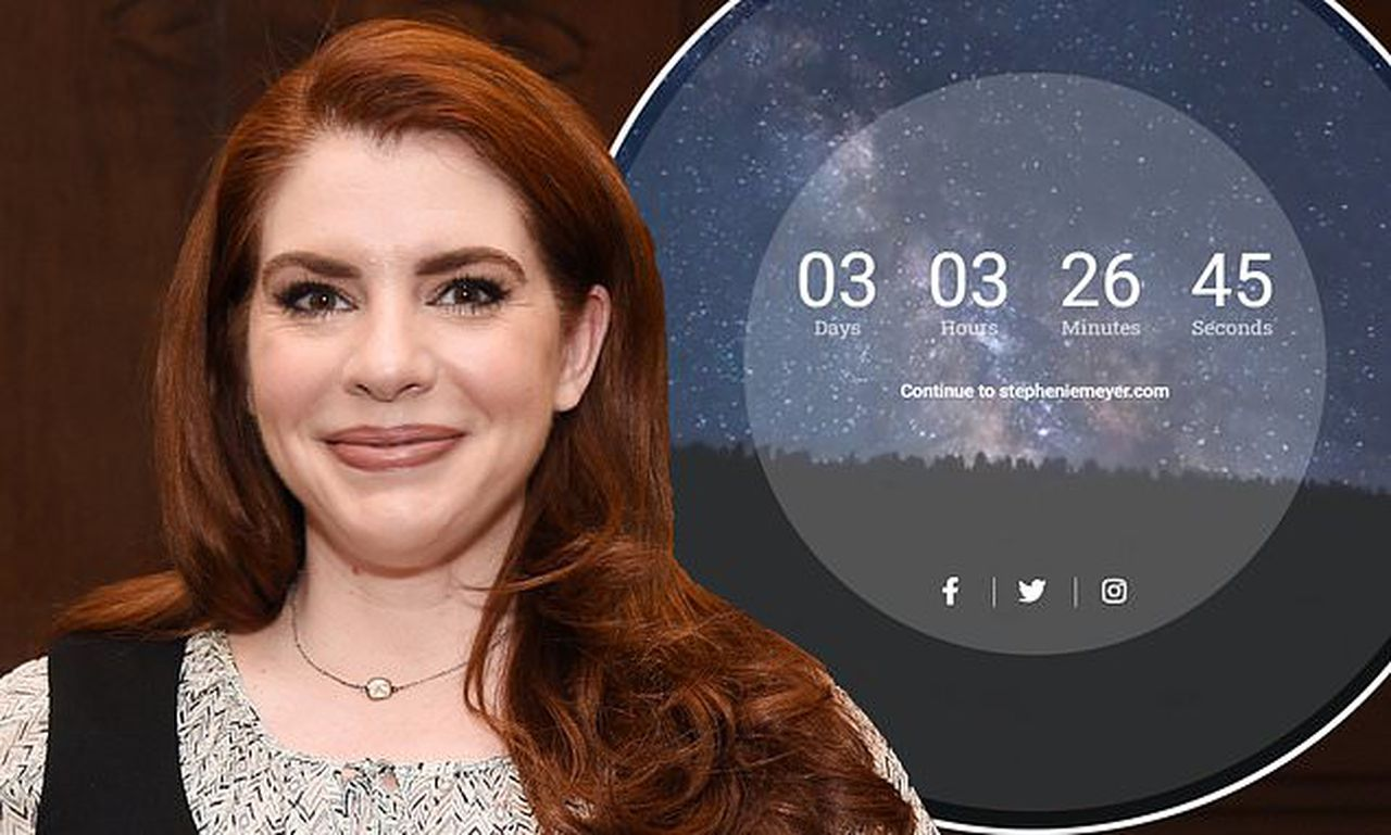 Twilight author Stephenie Meyer sends fans wild as she posts cryptic countdown timer on her website