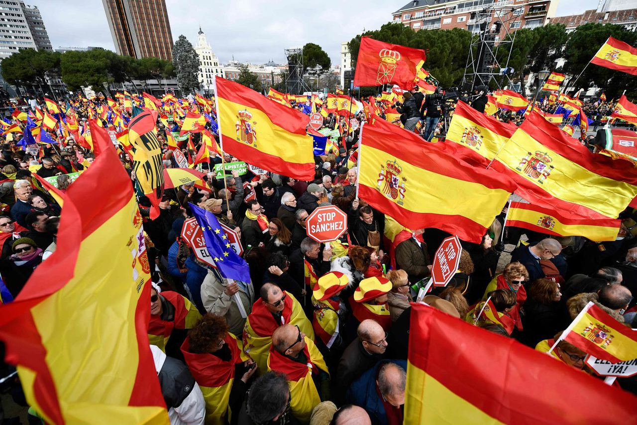 Thousands gathered in Spain to protest against Government