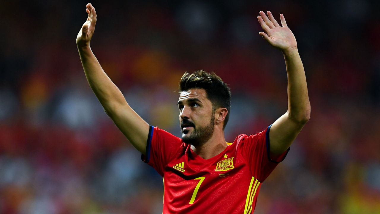 Spain's all-time top goalscorer and former Barcelona striker David Villa announced his retirement from professional football, Image via stadiumastro