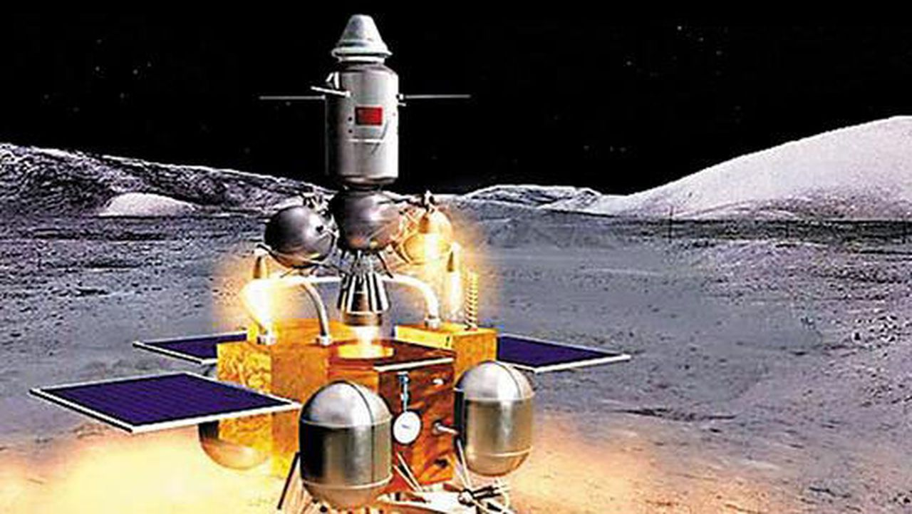 Chang'e-5 probe for collection of lunar samples