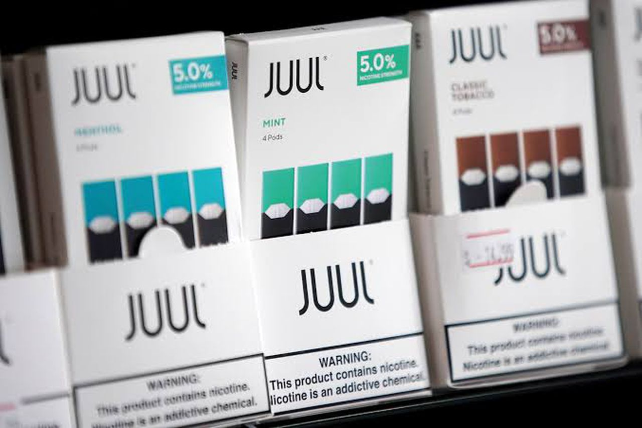 JUUL is now just selling menthol and tobacco flavors. Image via Reuters file