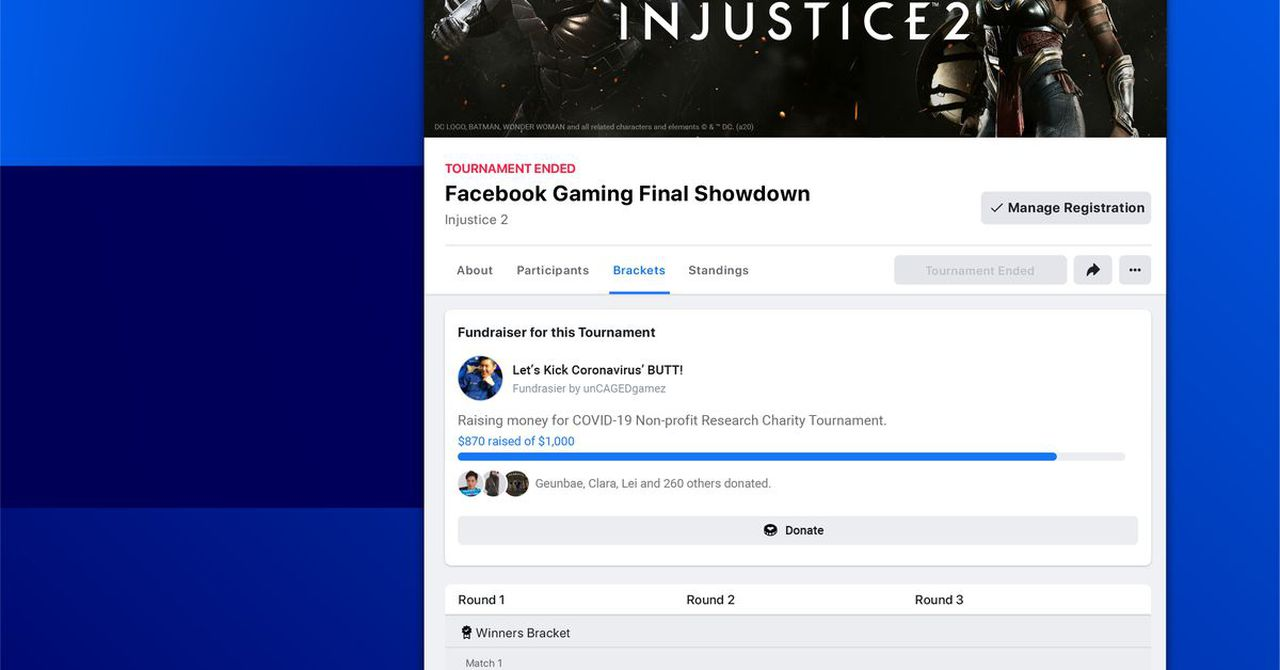 Facebook Gaming launches Tournaments