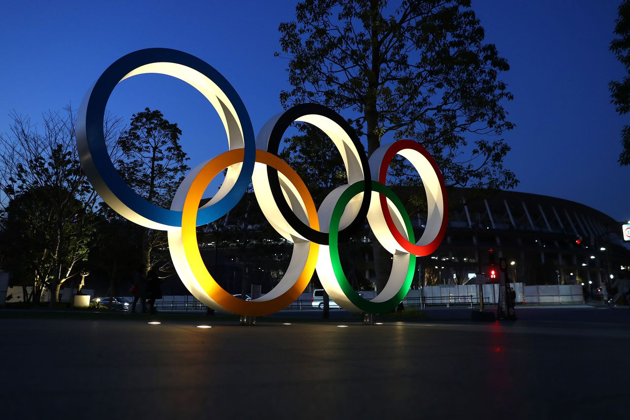 The Olympics have not been delayed as of yet, image via Getty Images